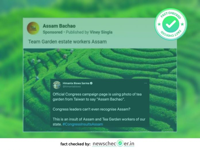 Congress' Assam Bachao Did In Fact Post Images Of Tea Gardens From Taiwan, Himanta Sarma's Claim True