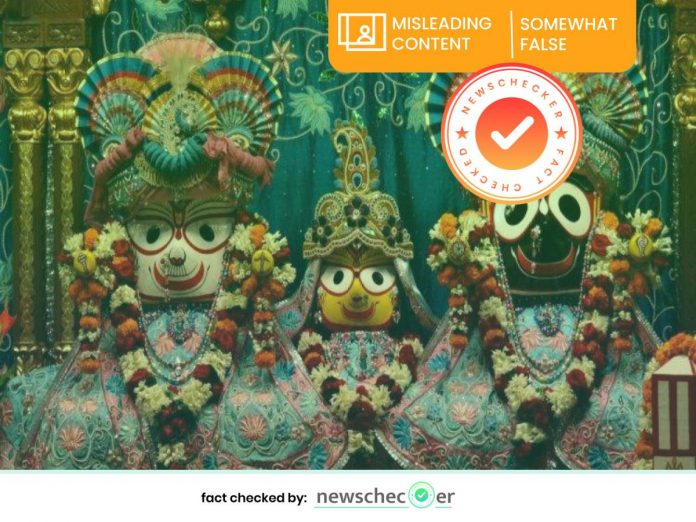 Misleading video goes viral in the context of Rath Yatra